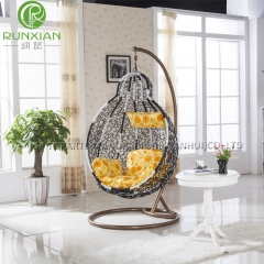 PE rattan recliner hanging chair